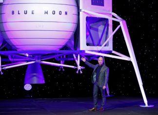 Jeff Bezos Reveals Blue Origin's Lunar Lander; Announces Release Of Next Gen Rocket In 2021