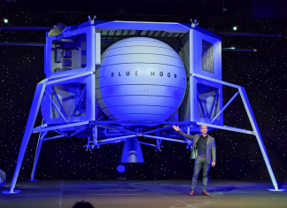 Jeff Bezos reveals a huge lunar lander that he states is 'going to the moon' and will assist Blue Origin occupy area
