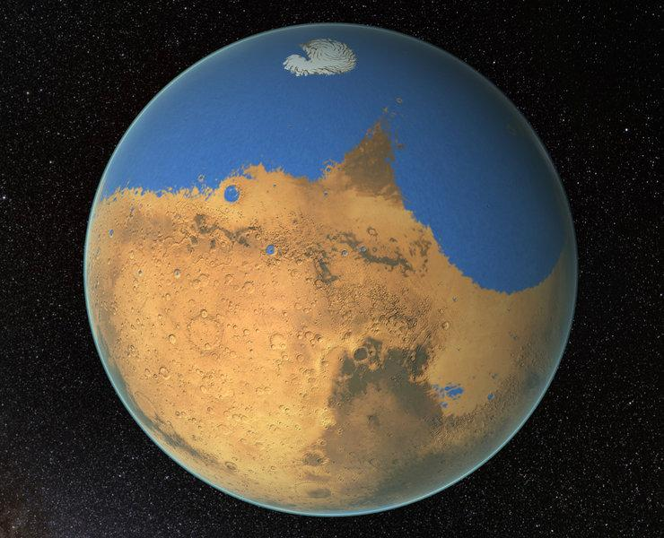 New Water-Cycle Discusses Why Mars Is A Barren World
