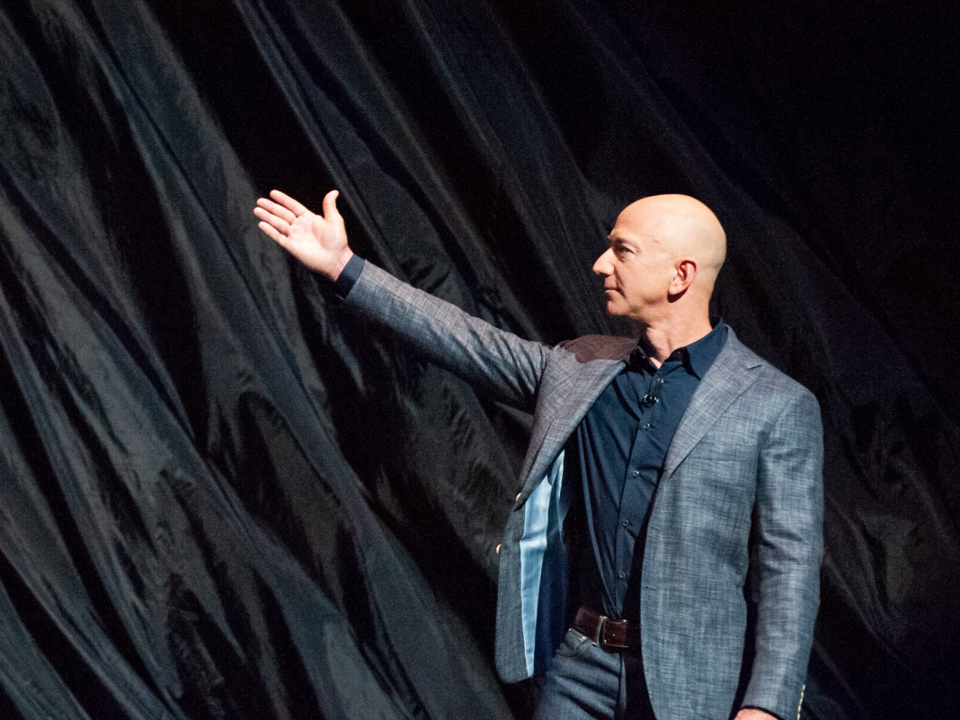 See Jeff Bezos explain his dream to colonize area, reveal the 'Blue Moon' lunar lander, and rib Elon Musk in this video