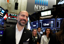 Uber had the worst first-day dollar loss ever of any United States IPO