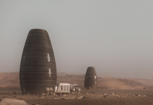 NASA held a contest to create a 3D environment on Mars, and the winner is a vertical pod that can be printed in 30 hours