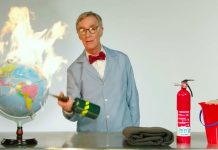 Costs Nye Draws Out the F-Bombs and a Blowtorch to Talk Environment Modification