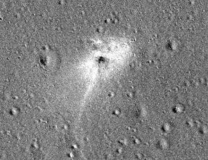 NASA areas website of Israel's heartbreaking moon lander crash