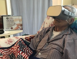 VR helps the dying go to Europe, swim with dolphins