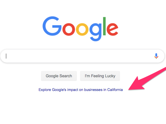 Google is utilizing its notoriously sporadic homepage to extol just how much it assists the economy, and it's an informing indication of the tech reaction (GOOG, GOOGL)