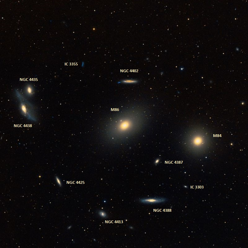 Messier 86– the NGC 4406 Elliptical Galaxy