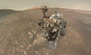 NASA Mars rover selfie displays Interest's drilling expertise