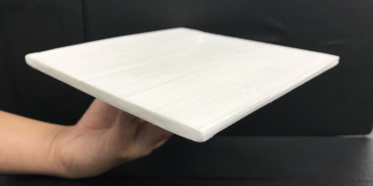 More powerful than aluminum, a greatly modified wood cools passively