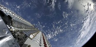 Capturing a Flight on the Starlink Satellite Train: Midnight Marvel, or Night Sky Threat?