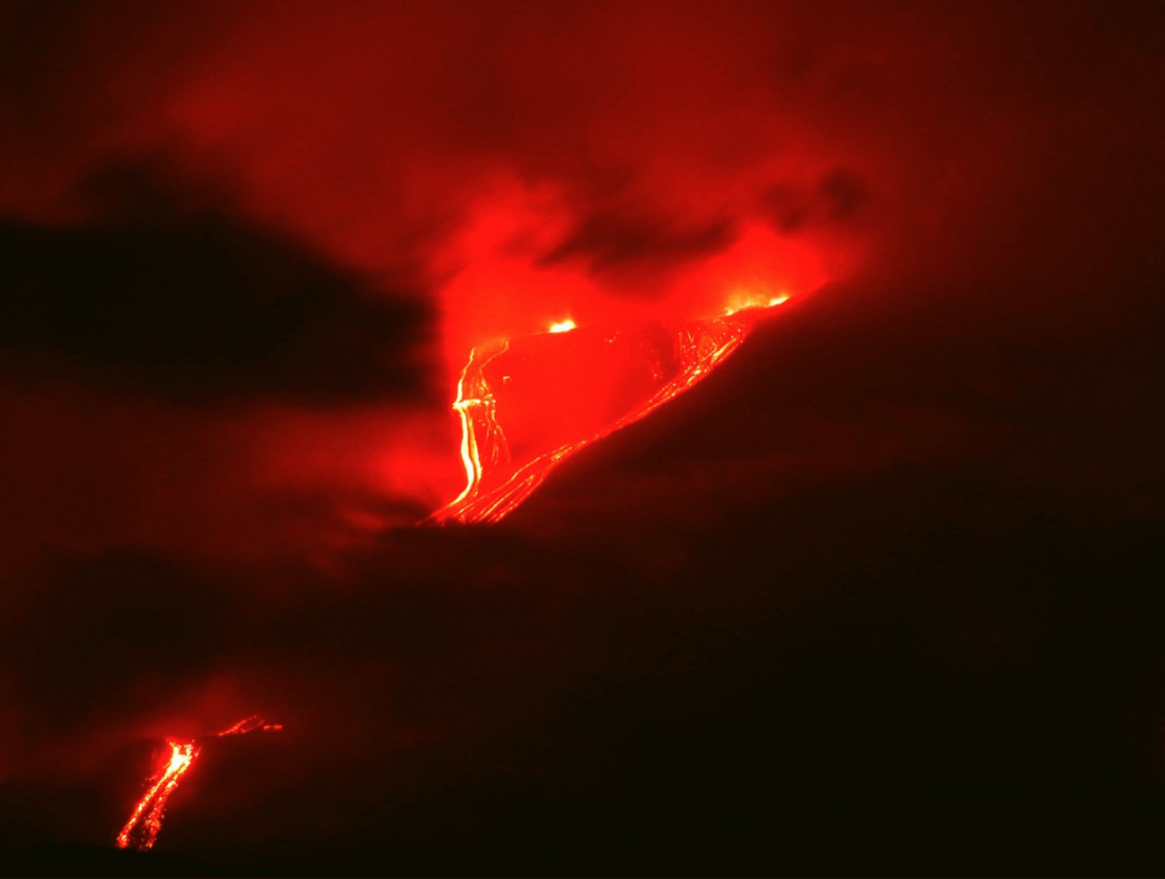 Mount Etna Is Emerging Today And It's Placing on An Amazing Program