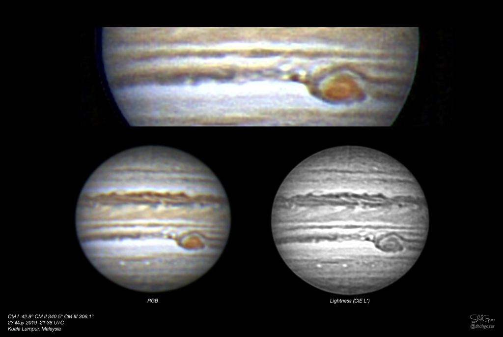 Is Jupiter's Great Red Area Vanishing as We Near Opposition 2019?