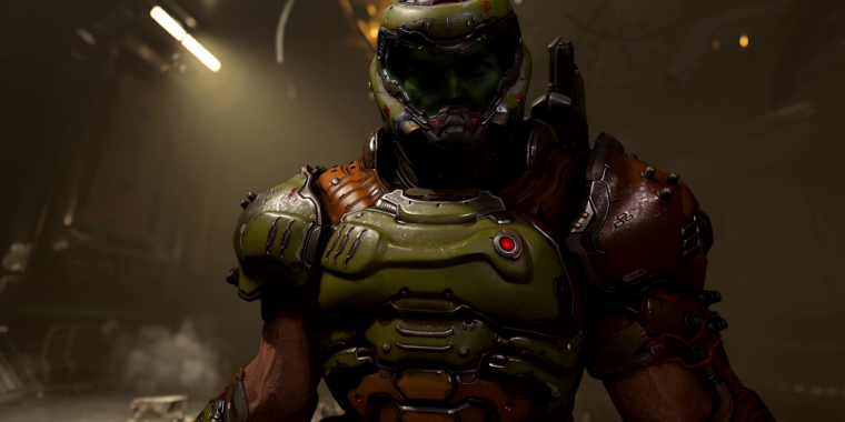 DOOM Everlasting gameplay opening night: Devil horns in the air– actually