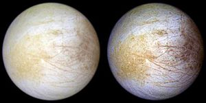 Jupiter's watery moon, Europa, is covered in salt