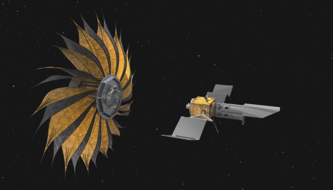In Order to Expose Planets Around Another star, a Starshade Requirements to Fly 40,000 km Far from a Telescope, Aligned Within Just 1 Meter