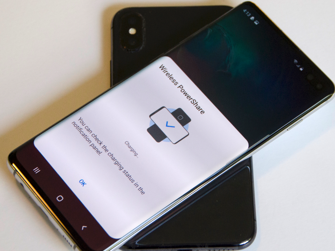 How to utilize 'Wireless PowerShare' on a Samsung Galaxy S10, turning the phone into a wireless-charging pad for other gadgets