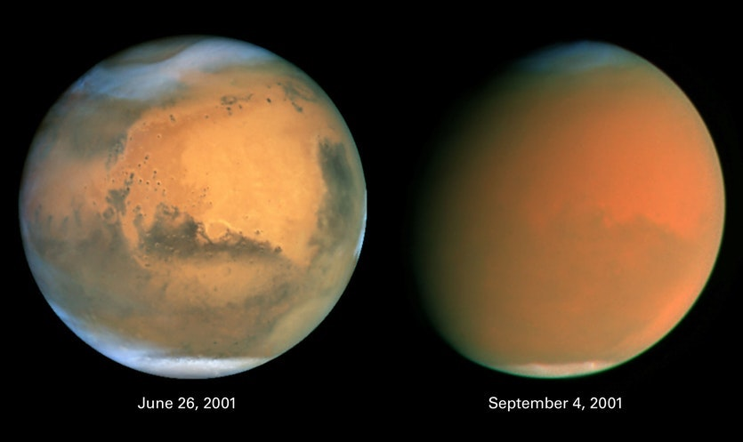 Earth has a Water Cycle. Mars has a Dust Cycle