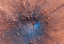 Fresh Crater Spied on Mars– and It Looks Magnificent