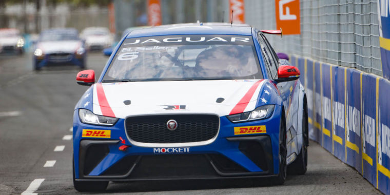 What's it like to race a Jaguar I-Pace electrical cars and truck?