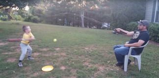 Utilize a Fishing Rod to Teach Your Kid to Swing a Bat
