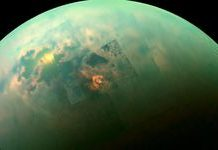 Titan's massive methane lakes might be encrusted with crystals