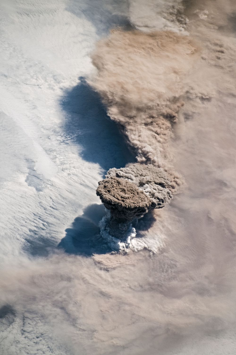 Eruption of the Raikoke Volcano, Seen From Area