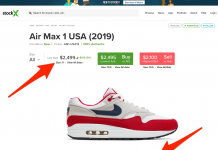 A questionable Betsy Ross-inspired American flag tennis shoe is now offering online for $2,499 after Nike pulled the shoe (NKE)