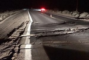 Beastly Southern California earthquake developed a fracture seen from area