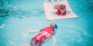 Keep Children Safe in the Swimming Pool With a Life Vest Celebration
