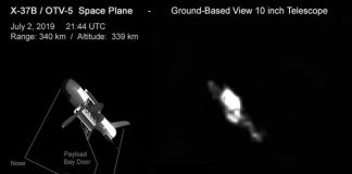 Skywatcher and Satellite Tracker Photographs United States Flying force's Secret Area Aircraft in Orbit!