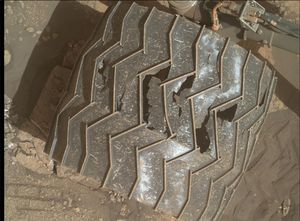 NASA's Mars Interest rover still taking a pounding from red world rocks