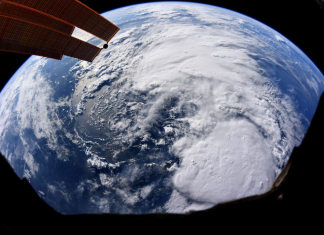 An astronaut recorded a picture of Hurricane Barry from area as it bears down on Louisiana