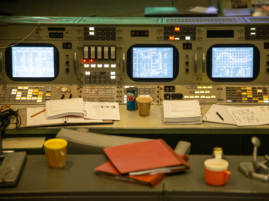 The Apollo moon program's Objective Control Center has actually been brought back and opened to the general public. Take a look at the 1969 time pill.
