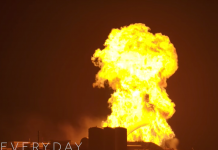 Significant videos reveal a fireball briefly swallowing up SpaceX's Mars rocket model after a crucial test