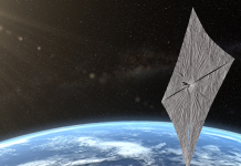 The very first 'solar cruising' spacecraft will unfurl in orbit. It will be powered simply by light.
