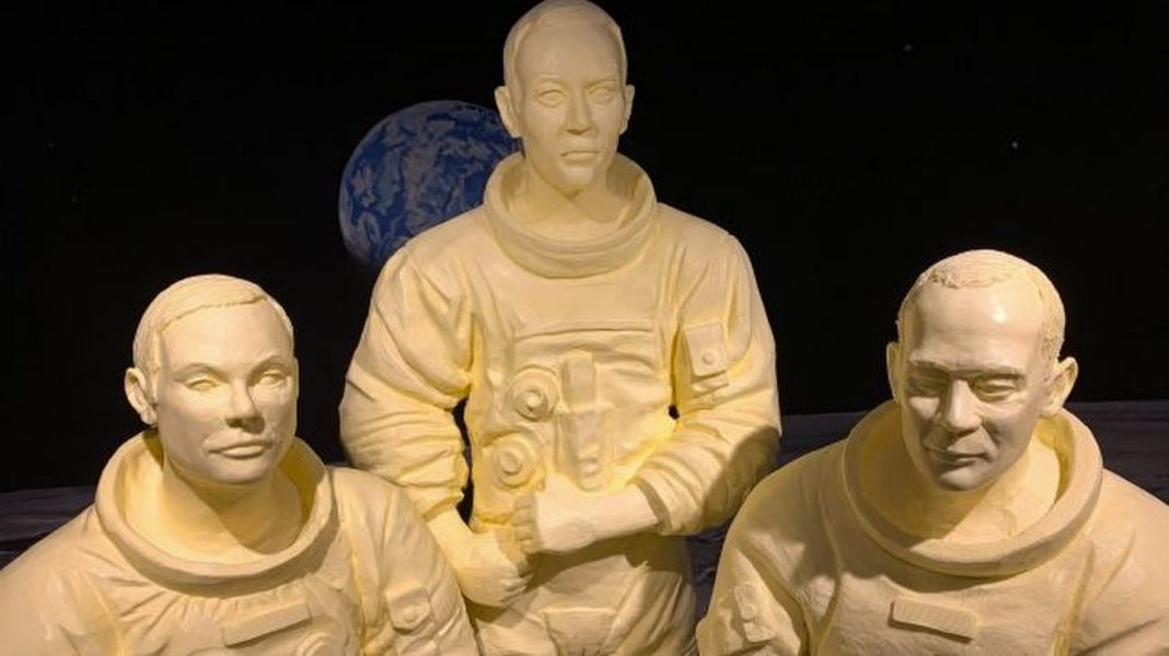 These Butter Sculpture Commemorate NASA's Apollo 11 Astronauts and They're Legen-DAIRY!