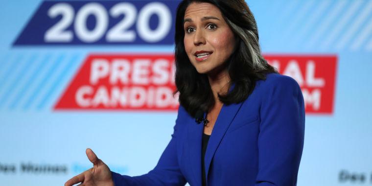 Governmental prospect Tulsi Gabbard takes legal action against Google for advertisement censorship