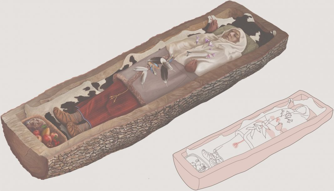 Iron Age Celtic Lady Using Fancy Clothing Buried in This 'Tree Casket' in Switzerland