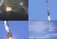Take a look at This Super-Cool Quad Video of the Falcon Re-Entry. 2 Sonic Booms!