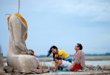 Undersea Temple Exposed by Thailand's Extreme Dry spell