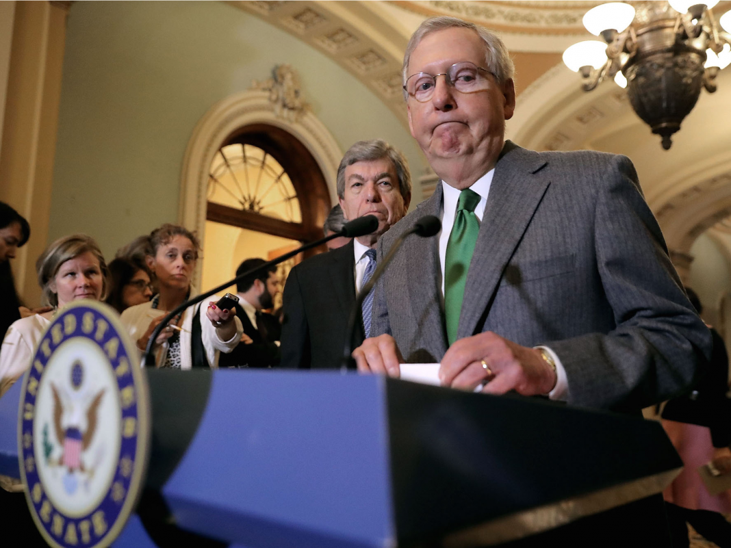 Mitch McConnell's project account suspended from Twitter after it published a video of protesters threatening the senator in Kentucky