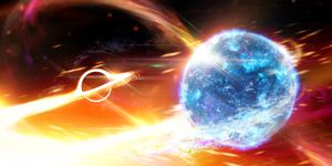 Ripples in space-time recommend a great void swallowed a neutron star