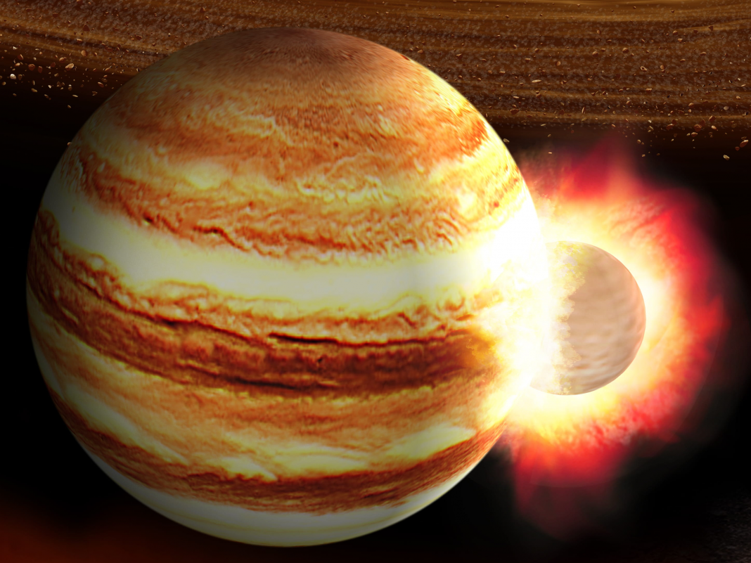 Jupiter got struck by a world 10 times the mass of Earth billions of years back, and its core is still reeling, a brand-new research study recommends