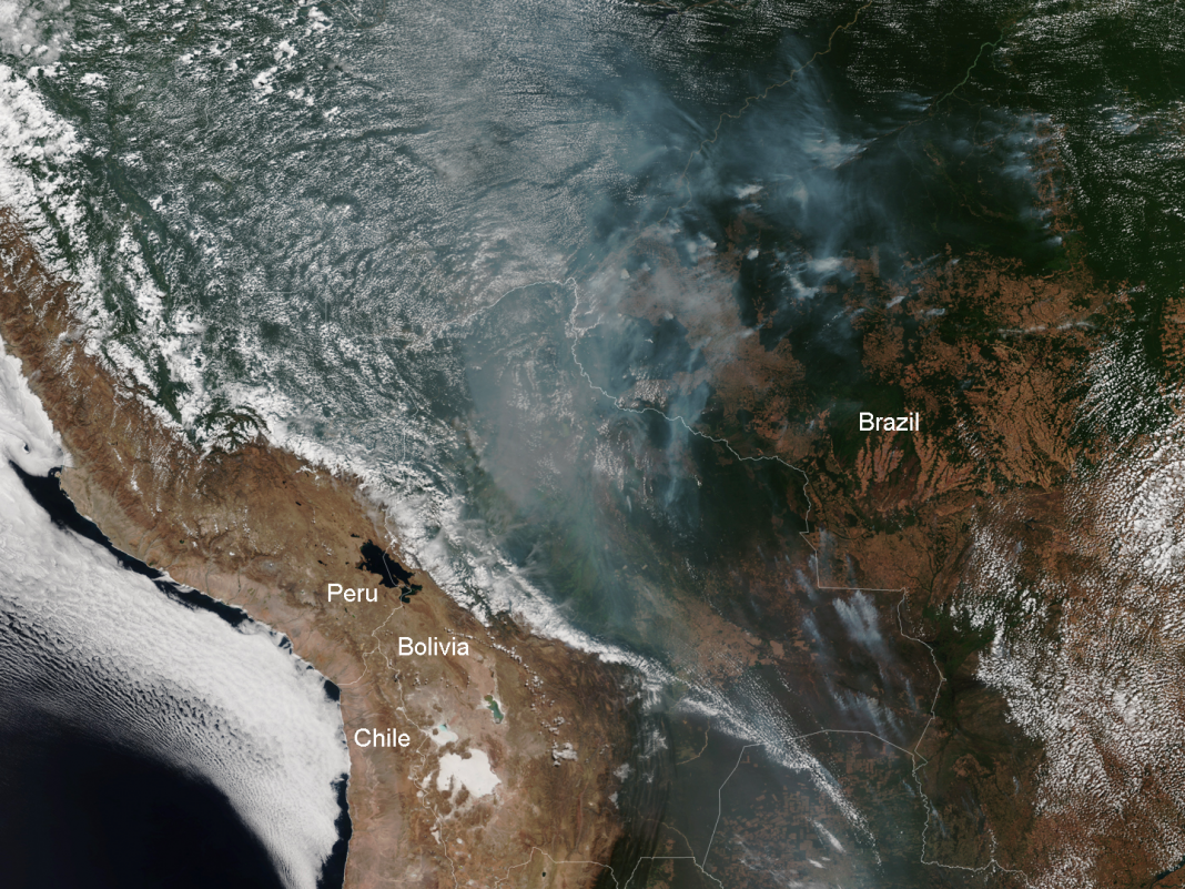 The Amazon is burning at a rate not seen given that we began keeping track. The smoke is reaching cities 2,000 miles away.