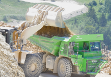 This huge 121- heap electrical dump truck never ever utilizes more energy than it produces by itself– here's how that works