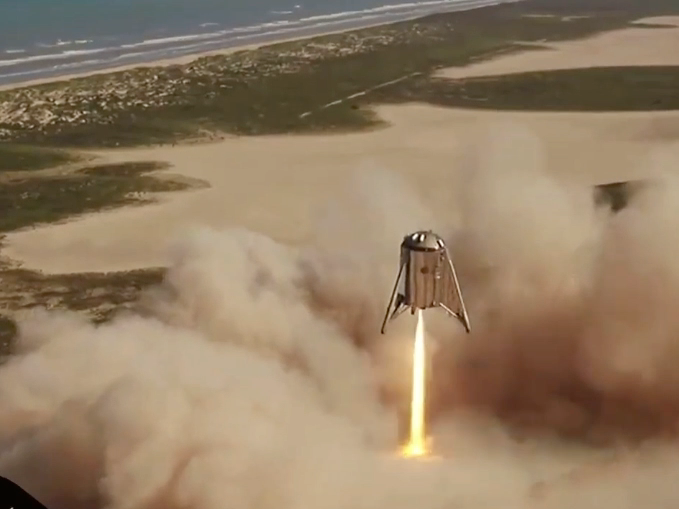 SpaceX's Starhopper spaceship effectively released on a 150- meter flight from South Texas