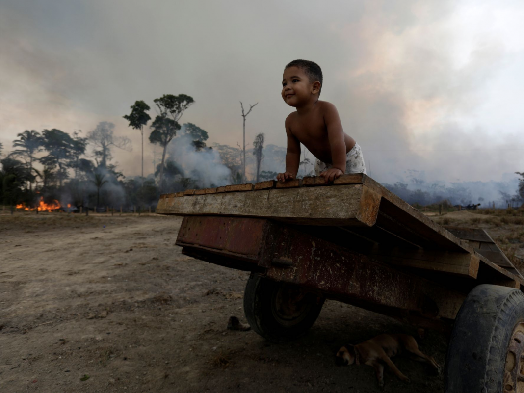 Kids in Brazil are having a hard time to breathe since of all the smoke from the Amazon fires