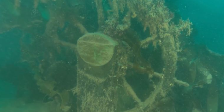 Fresh pictures of HMS Fear shipwreck might clean up sticking around secrets