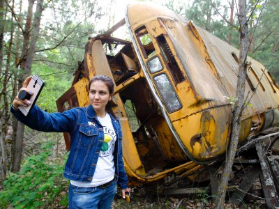 For less than $100, you can explore the deserted towns around Chernobyl. Simply keep an eye out for radioactive trees and pets, falling apart structures, and the periodic selfie stick.