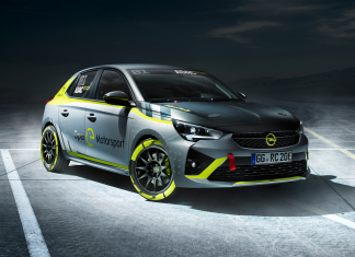 See the world's very first completely electrical rally vehicle: the Corsa-e